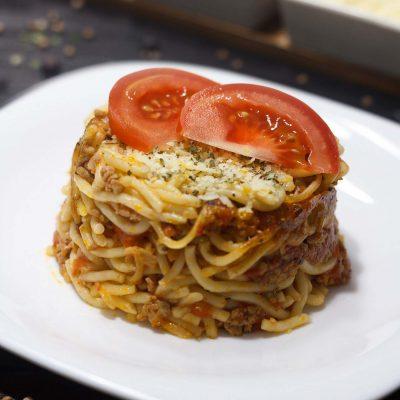 Bolognai spagetti sütőben